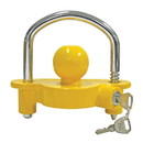 """Draw-Tite 55003 Trailer Hitch Coupler Lock Universal Coupler Lock, Fits 1-7/8"""", 2"""", and 2-5/16"""" Couplers, Yellow"""