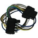 "Wesbar 707255 5-Flat Connector Harness - Loop 5-Flat Plug Loop 24"" Long, Car & Trailer End Wiring Harness"