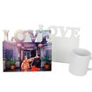 Muka Custom Photo Frame Desktop Plaque, Print Your Memorial Gallery, LOVE Frame Wedding Gift