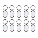 Muka Pack of 10 Sublimation Stainless Steel Keychain, Sublimation Blanks for DIY Projects