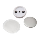 TOPTIE 100 Packs Round Badge Button Parts, Blank Clip Button for Badge Maker