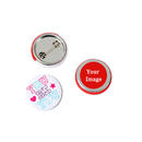 TOPTIE 100 Packs Customized Metal Pin-Back Round Badge Buttons
