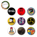 Muka Custom Round Badge Buttons, Personalized Platic Pin-Back Button