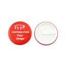 TOPTIE 100 Packs Custom Round Badge Button With Plastic Clip