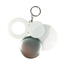 TOPTIE 100 Packs Keychain Parts for Badge Button Makers, Round Badge Button Keychain