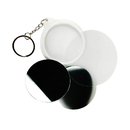 TOPTIE 100 Packs Badge Mirror Keychain Parts, Blank Materials for Badge Button Makers