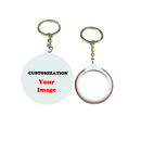 TOPTIE 100PCS Personalized Badge Button Keychains, Gifts and Decoration, Custom Logo Keychain