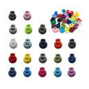 Muka 100PCS Plastic Round Single Hole Spring Loaded Elastic Cord Locks, Multiple Colors, 8MM Hole Diameter