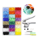 Aspire 360PCS Snaps and Snap Pliers Set, 24 Colors T5 Resin Sewing Buttons