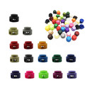 Muka 100PCS Plastic Dual-Hole Toggle Stoppers Spring Loaded Cord Locks, 6mm Hole Diameter