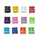 Muka 100PCS Plastic Dual-Hole Cord Locks Spring Loaded Belt Clip and Lanyard Toggle Stoppers