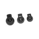 Muka 100PCS Plastic Round Single-Hole Toggles Cord Locks, Multiple Sizes