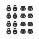 Muka 200PCS Plastic Cord Locks, Including 100PCS Dual-Holes Bean Toggles and 100PCS Single-Hole Toggles