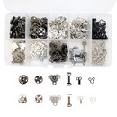 Muka 100 Sets Snap Buttons Kit Sewing Hooks and Eyes Sew-on Buttons for Clothing DIY