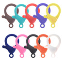 Muka 100Pcs Plastic Lobster Claw, 35mm Lanyard Snap Clasp Hook, Assorted Key Chains Clips