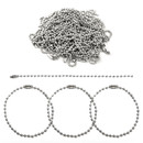 Muka 200pcs 12cm Long Ball Bead Chain, 2.4 mm Ball Chain with Connector Clasps for Tag Keychains