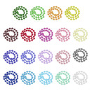 Muka 200pcs 12cm Assorted Ball Bead Chains, 2.4mm Size #3 Bead Connector Clasp for Keychains