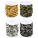 Muka 330 Feet Ball Chain Roll, 100 Meters Bead Chain Sets, Bulk Chain Spool