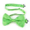 TopTie Mens Formal Solid Lime Green Satin Bow Tie