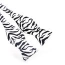 TopTie Mens Zebra Animal Print Self-Tie Bow Tie