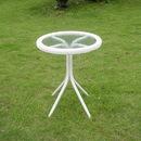 International Caravan Outdoor Resin Wicker and Glass-top Bistro Table