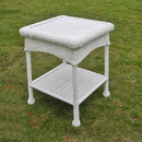 International Caravan PVC Resin and Steel Outdoor Side Table