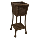 International Caravan PVC Resin Square Two-Tier Plant Stand