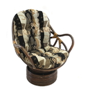International Caravan Rattan Swivel Rocker with Cushion