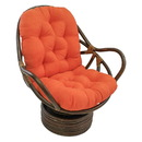 International Caravan Rattan Swivel Rocker with Micro Suede Cushion