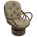 International Caravan Swivel Rocker with Twill Cushion