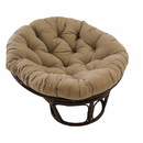 International Caravan 42-Inch Rattan Papasan Chair with Solid Twill Cushion