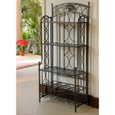 International Caravan Iron 5-Tier Bakers/Wine Rack