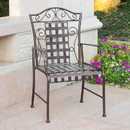 International Caravan Mandalay Set of Two Iron Chairs-Bronze/Verdi Green