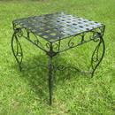 International Caravan Mandalay  Iron Square Side Table