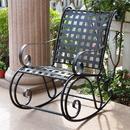 International Caravan Mandalay Iron Rocking Chair