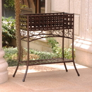 International Caravan Mandalay Iron Rectangular Plant Stand
