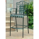 International Caravan Set of 2 Mandalay Iron Bar Height Chair-Bronze/Verdi Green
