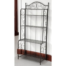 International Caravan Mandalay Iron Folding Baker Rack