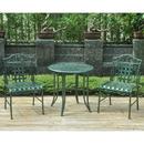 International Caravan Set of Three Mandalay Iron Bistro Set-Bronze/Verdi Green