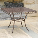 International Caravan 3483-TBL-HD-BZ Sun Ray Iron Dining Table - Hammered Bronze