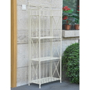 International Caravan 4-Tier Iron Folding Bakers Rack