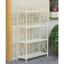 International Caravan Iron 4-Tier Folding Bakers Rack