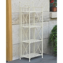 International Caravan Narrow 4-Tier Iron Folding Bakers Rack