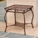 International Caravan 3552 Santa Fe Iron Nailhead Side Table, 20'' x 22'' x 20''