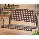 International Caravan 3557 Santa Fe Iron Nailhead Hanging Swing, Rustic Brown