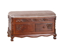 International Caravan 3811 Carved Wood 2 Drawer Storage Bench