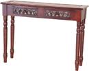 International Caravan 3834 Carved Two Drawer Table