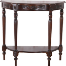 International Caravan 3845 Carved Wood One Drawer Console Table