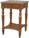International Caravan 3859 Carved Wood Square Table, Brown Stain