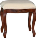 International Caravan 3863 Wood Stool with Cushioned Top, Brown Stain
